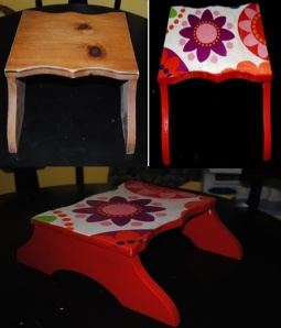 Wooden Step Stool Redo