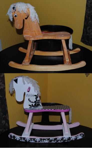 wooden zebra rocking horse plans