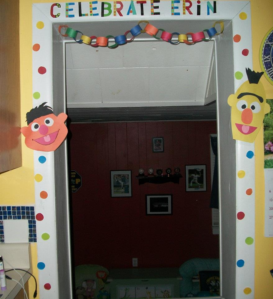 Sesame Street Birthday decorations made from construction paper  On ...