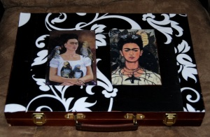 Frida Kahlo Decoupage Art Case