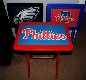 Decoupage Sports Team TV Trays