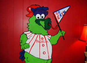Phillie Phanatic Painted Wall Mural