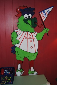 Full lengths shot of Phillie Phanatic Wall mural
