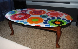 1960's Style Decoupage Coffee table