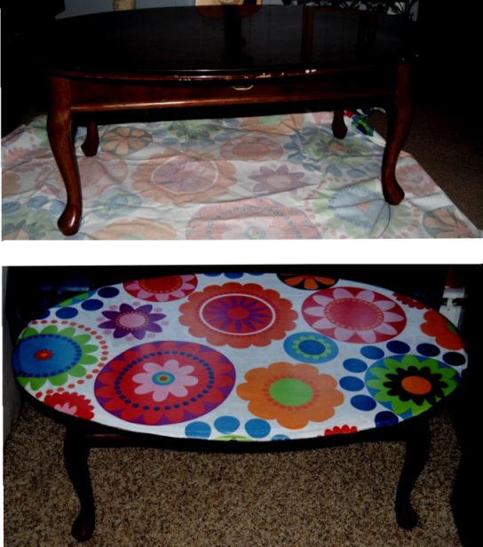 1960s Inspired Decoupage Coffee Table On The Upcycle