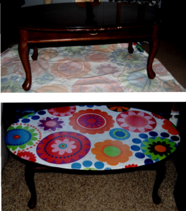 Decoupage Coffee Table