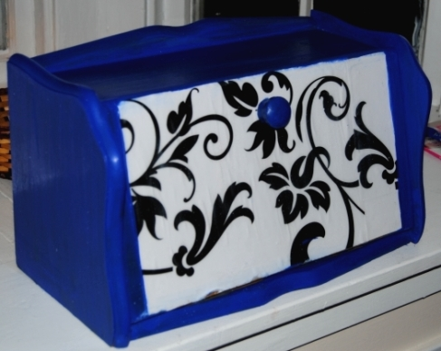 Decoupage Bread Box