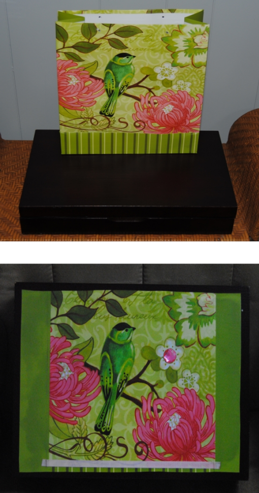 Gift Bag Makeover: Wooden Box Re-purposed and Restyled with decoupage ...