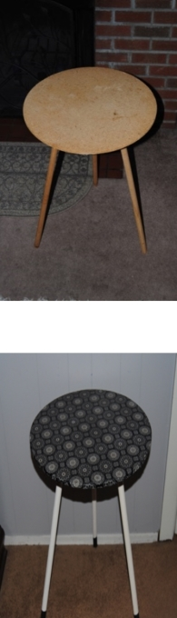 Cheap wooden accent table upcycle before and after