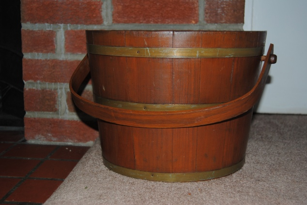 Upcyled Wooden Bucket