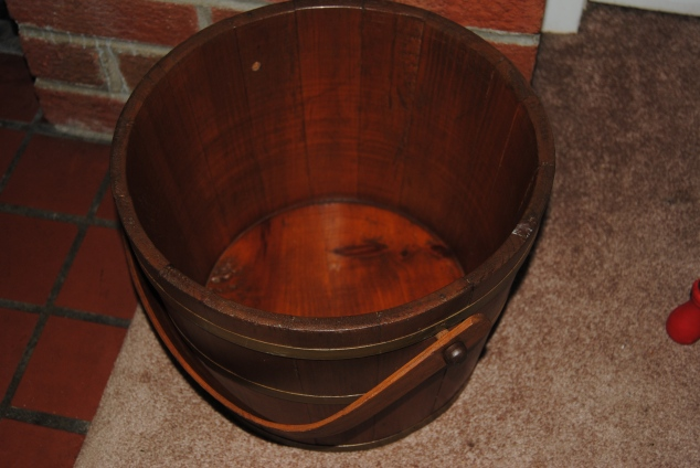 Wooden Bucket inside