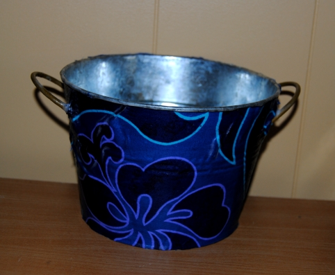 Decoupage Galvanized Buckets