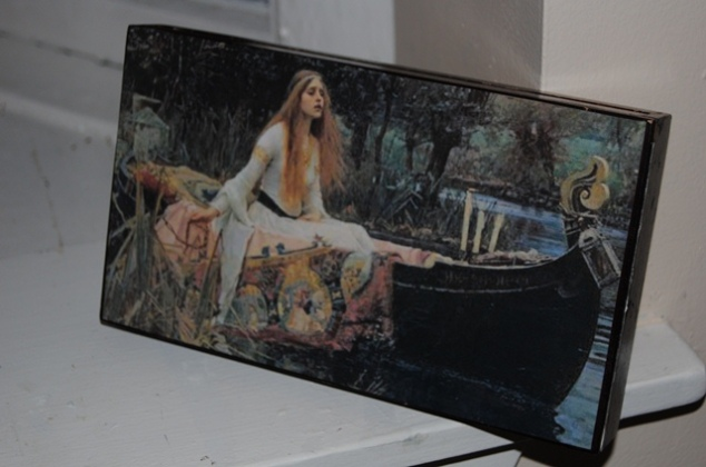 The Lady of Shalott 1888Upcycle Cigar Box