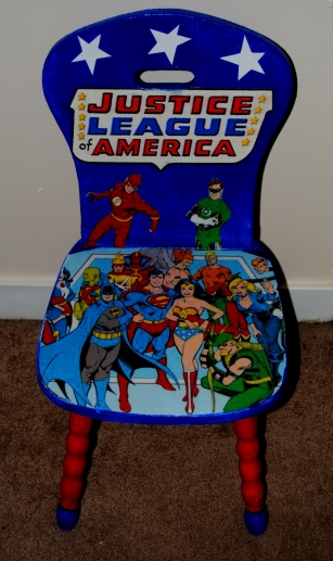 Justice League Of America Decoupage Kids Chair