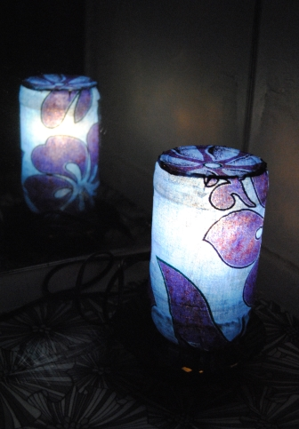 Upcycled Decorative Jar Lamp Reflection