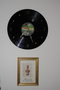 It's our earth upcycled record clock on Etsy