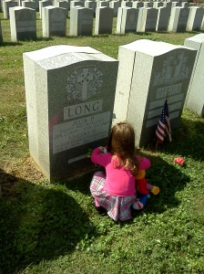 My daughter visiting her great grandparents