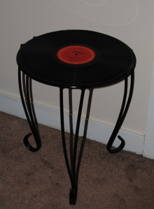 Upcycled Plant Stand Record Table