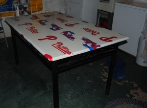 Phillies sports Fan Table decoupage table cover