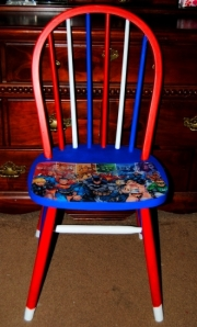 Upcycled Super Hero Chair