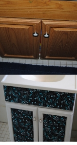 Bathroom Cabinet Makeover Before and After