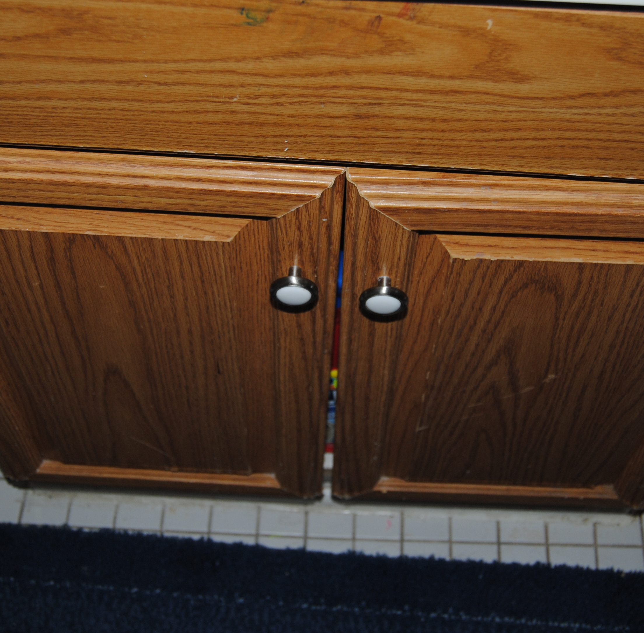 Decoupage Kitchen Cabinets Design On A Nickel Bathroom Cabinet Decoupage Restyle On The