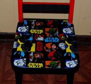 Fabric Decoupage Chair Seat