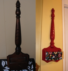 From Odd To Mod-Upcycled Thrift Store Wooden Wall Hanging Restyled with Mod Podge, Paint, and Fabric