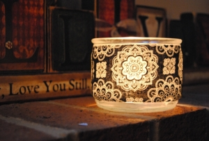 Recycled Candles made into decorative tea light holders
