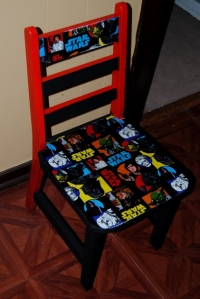 Star Wars Themed Fabric Decoupage Chair