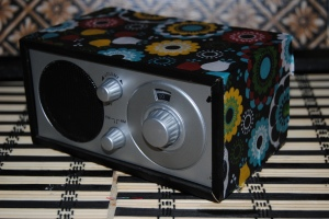 Decoupage Mini Desk Radio