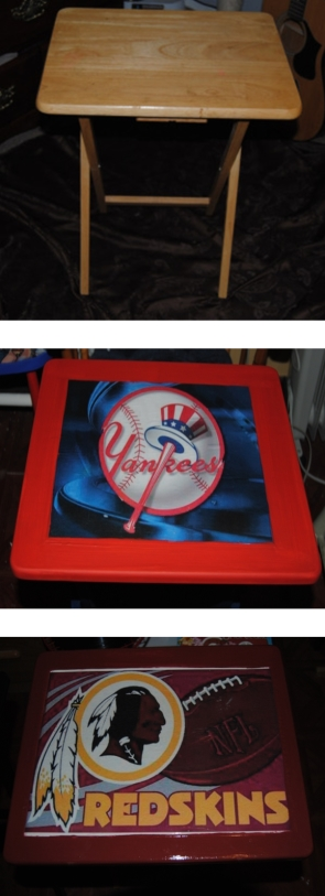 Decoupage Sports Fan TV Trays Revisited (6/6)