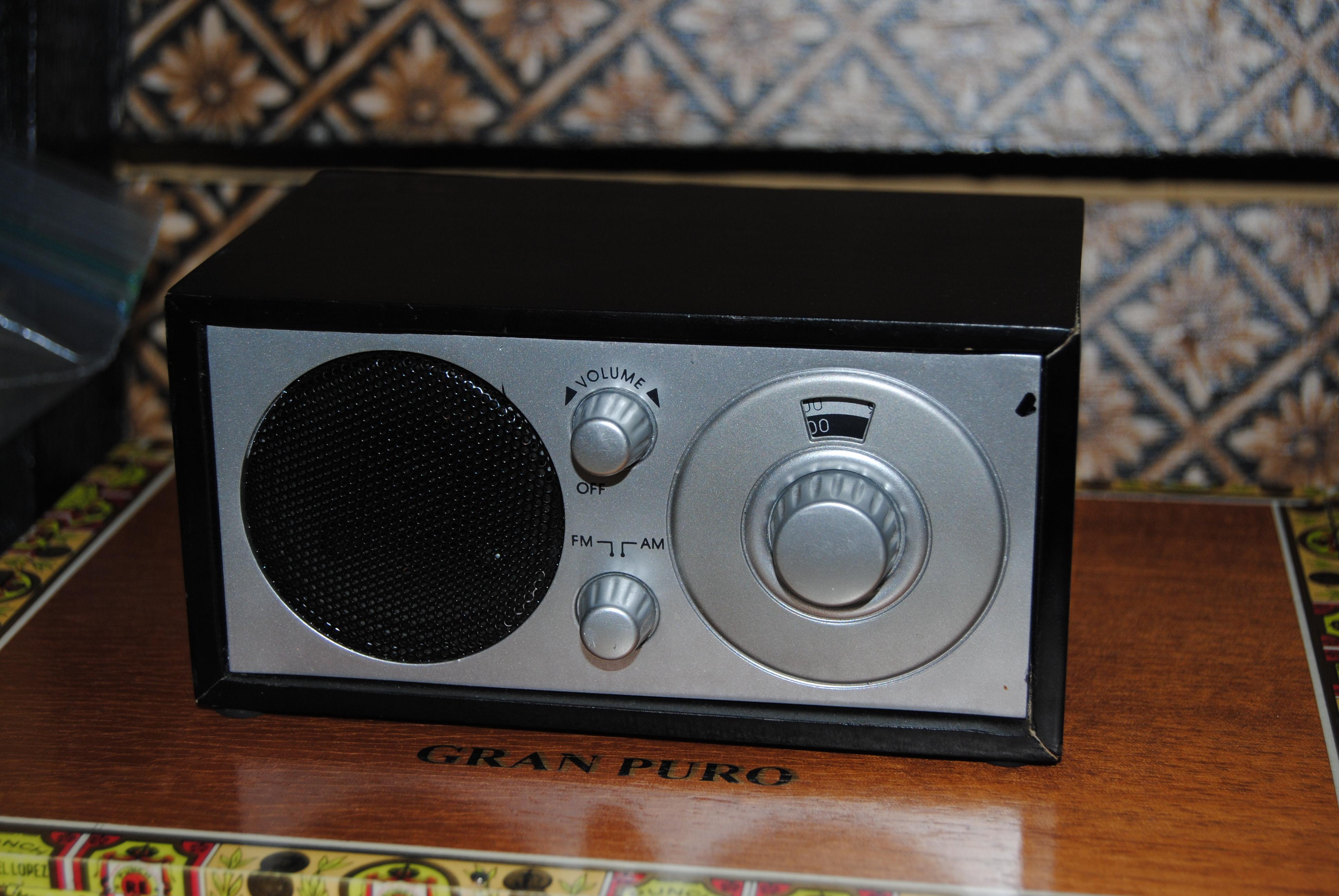 Inexpensive Gift Ideas Miniature Desk Radio Decoupage