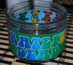 Grateful Dead tea light holder