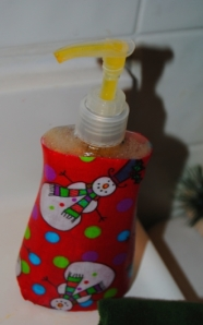 Holiday Decoupage Soap Disp