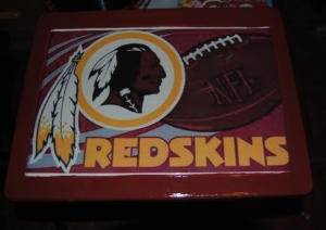 Washington Redskins Decoupage TV Tray