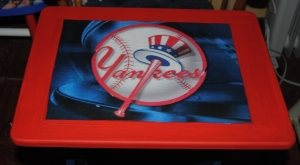 Yankees Decoupage Sports TV Tray