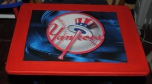 Yankees Decoupage Sports TV Tray