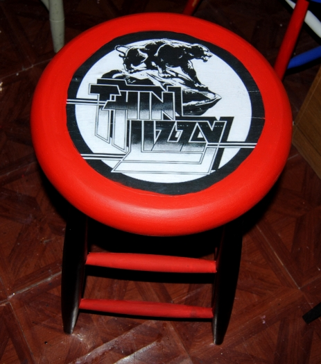 The Craft Must Go On Upcycled Rock N Roll Bar Stool On