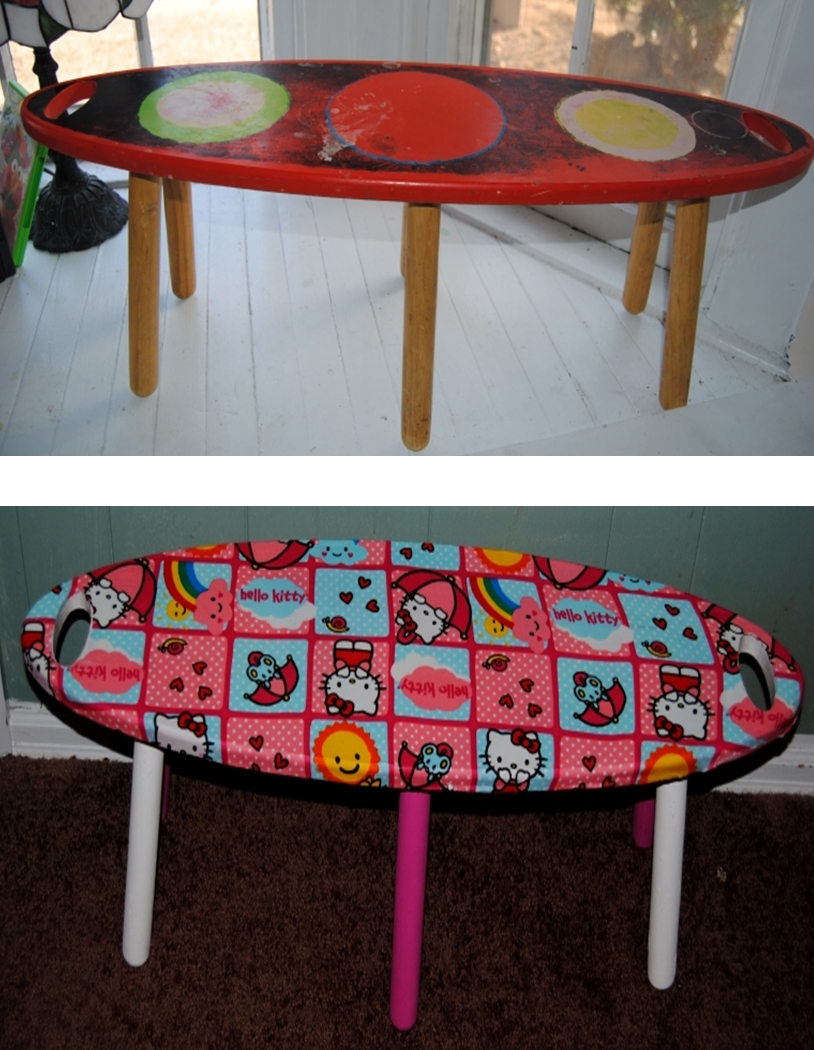 Hello Kitty Themed Kids Surfboard Bench On The Upcycle