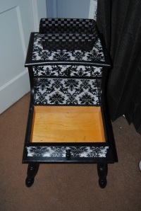 Decoupage Nightstand with drawers