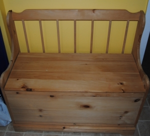 Unfinished Wood Bench With Storage