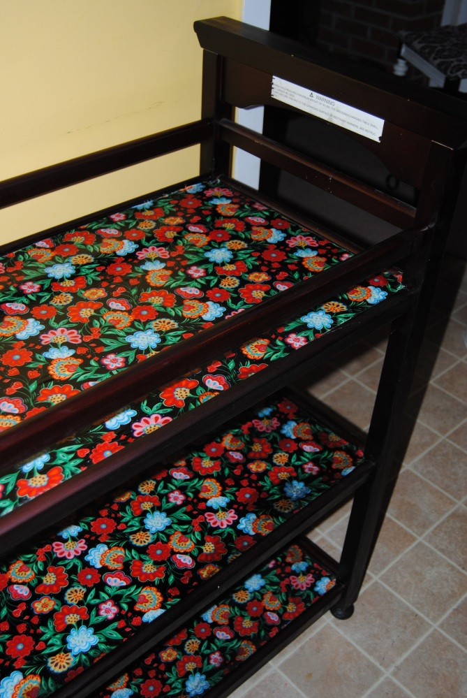 Decoupage Diaper Changing Table