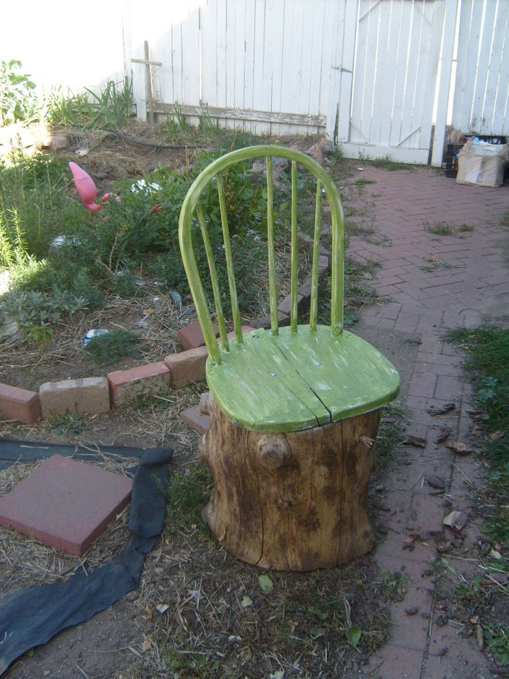 Completely stumped upcycled tree stump ideas on the for Tall tree stump ideas