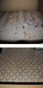 craft table resurface before and after