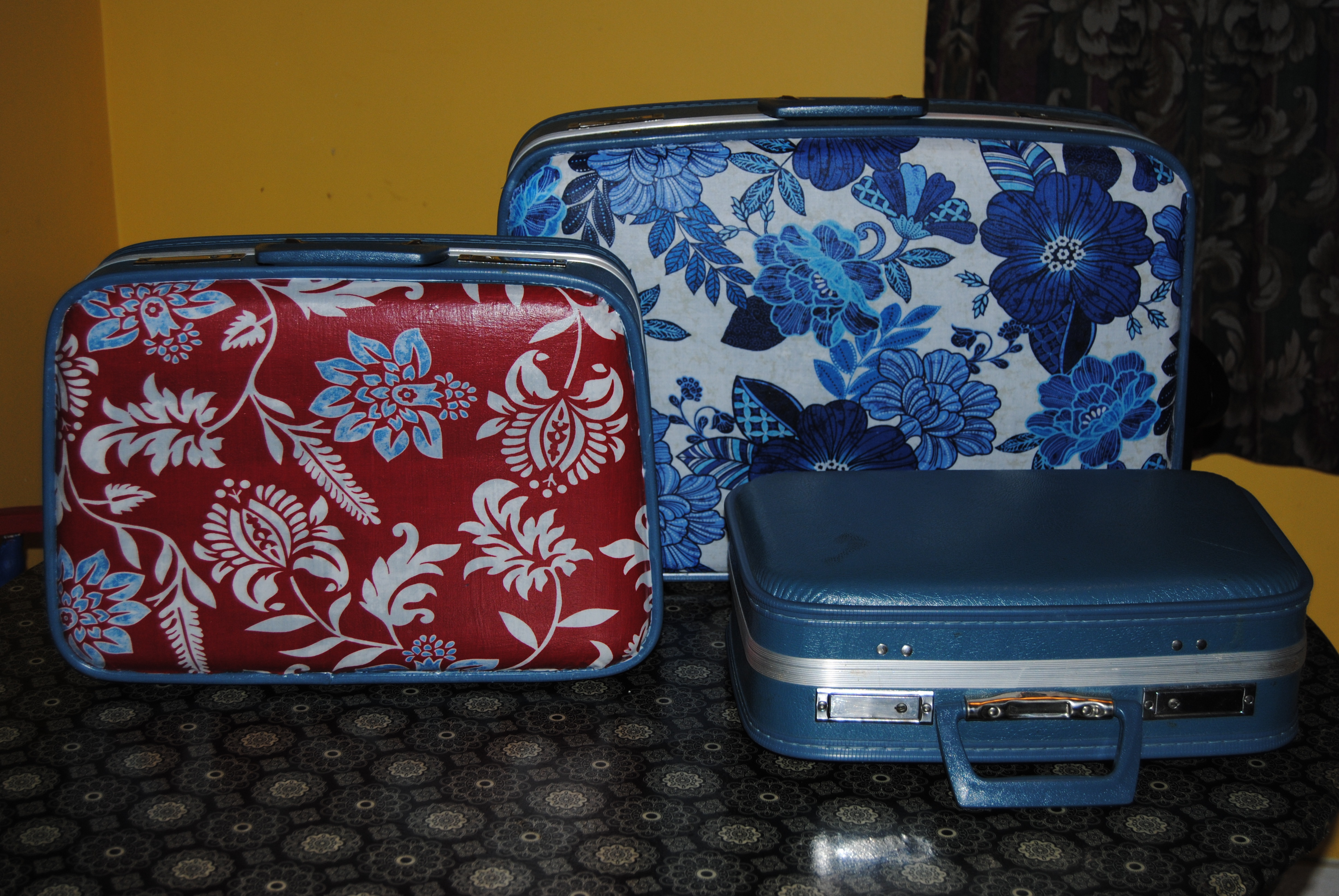 A Decoupage Trilogy: Vintage Suitcase Number Three | On The Upcycle~