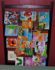 Repurposed Crib Rail Book Rack