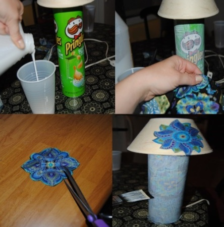 Decorative Upcycled Pringles Lamp