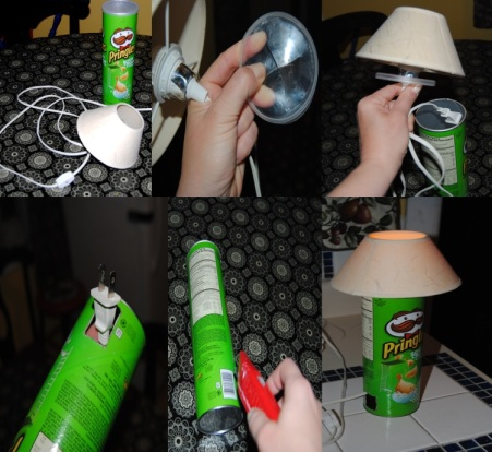 Minimalist Pringles Lamp Upcycle