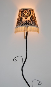 Restyled Fabric Decoupage Lamp Shade